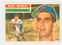1956 Topps Baseball 39 Don Mossi Cleveland Indians Excellent to Mint Grey Back