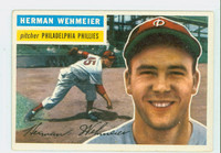 1956 Topps Baseball 78 Herman Wehmeier Philadelphia Phillies Excellent to Mint Grey Back