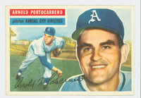 1956 Topps Baseball 53 Arnold Portocarrero Kansas City Athletics Excellent to Excellent Plus White Back