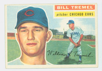 1956 Topps Baseball 96 Bill Tremel Chicago Cubs Excellent to Excellent Plus White Back