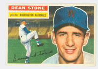 1956 Topps Baseball 87 Dean Stone Washington Senators Excellent White Back