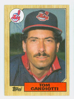 Tom Candiotti AUTOGRAPH 1987 Topps #463  