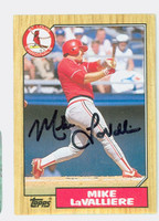 Mike LaValliere AUTOGRAPH 1987 Topps #162 Cardinals 