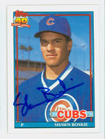 Shawn Boskie AUTOGRAPH 1991 Topps Cubs 