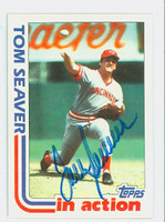 Tom Seaver AUTOGRAPH 1982 Topps In Action Reds 