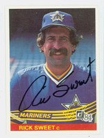 Rick Sweet AUTOGRAPH 1984 Donruss #196 Mariners 