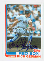 Rich Gedman AUTOGRAPH 1982 Topps #59 Red Sox 