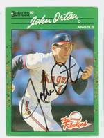 John Orton AUTOGRAPH 1990 Donruss The Rookies Angels 