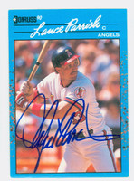 Lance Parrish AUTOGRAPH 1990 Donruss Baseball's Best Angels 