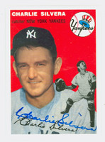 Charlie Silvera AUTOGRAPH Topps 1954 Archives Yankees 