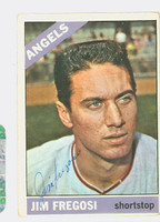 Jim Fregosi AUTOGRAPH d.14 1966 Topps #5 Angels CARD IS G/VG; SL CREASE