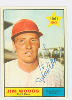 Jim Woods AUTOGRAPH 1961 Topps #59 Phillies 