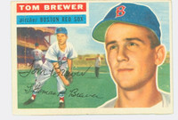 Tom Brewer AUTOGRAPH d.18 1956 Topps #34 Red Sox CARD IS CLEAN VG/EX