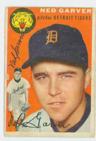 Ned Garver AUTOGRAPH 1954 Topps #44 Tigers CARD IS G/VG
