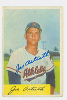 Joe Astroth AUTOGRAPH d.13 1954 Bowman #131 Athletics CARD IS G/VG