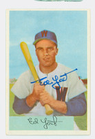Ed Yost AUTOGRAPH d.12 1954 Bowman #72 Senators CARD IS CLEAN EX