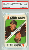 1971 Topps Football Game 11 Virgil Carter Cincinnati Bengals PSA 8 Near Mint to Mint
