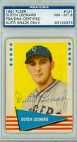 Dutch Leonard AUTOGRAPH d.83 1961 Fleer Greats Dodgers PSA/DNA AUTO GRADE IS PSA 8