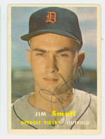 Jim Small AUTOGRAPH 1957 Topps #33 Tigers CARD IS VG
