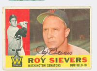 Roy Sievers AUTOGRAPH d.18 1960 Topps #25 Senators CARD IS PR