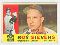 Roy Sievers AUTOGRAPH d.18 1960 Topps #25 Senators CARD IS F/P