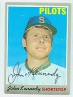 John Kennedy AUTOGRAPH 1970 Topps #53 Pilots CARD IS EX