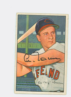 Al Rosen AUTOGRAPH d.15 1952 Bowman #151 Indians CARD IS CLEAN EX