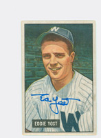 Eddie Yost AUTOGRAPH d.12 1951 Bowman #41 Senators CARD IS CLEAN EX+