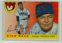 Stan Hack AUTOGRAPH d.79 1955 Topps #6 Cubs  CARD IS F/G
