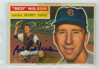 Red Wilson AUTOGRAPH d.14 1956 Topps #92 Tigers  TAPE ON CARD