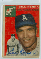 Bill Renna AUTOGRAPH d.14 1954 Topps #112 Athletics  CARD IS F/G