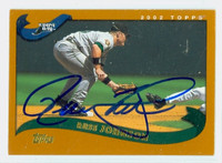 Russ Johnson AUTOGRAPH 2002 Topps Rays 