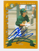 Adam Morrissey AUTOGRAPH 2002 Topps Athletics TRADED 