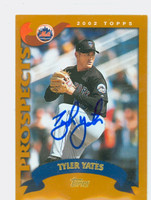Tyler Yates AUTOGRAPH 2002 Topps Mets TRADED   [SKU:YateT13908_T02BB]