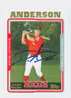 Drew Anderson AUTOGRAPH 2005 Topps Reds 