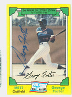 George Foster AUTOGRAPH 1982 Drakes Big Hitters Mets 