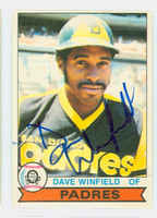 Dave Winfield AUTOGRAPH 1979 O-PEE-CHEE #30 Padres 