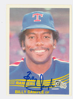 Billy Sample AUTOGRAPH 1984 Donruss #403 Rangers 
