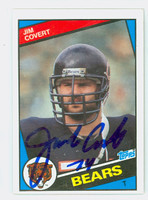 Jim Covert AUTOGRAPH 1984 Topps Football ROOKIE Bears 