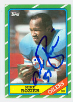 Mike Rozier AUTOGRAPH 1987 Topps Football Oilers 