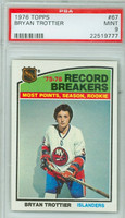 1976 Topps Hockey Bryan Trottier New York Islanders PSA 9 Mint