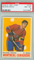1970-71 OPC Hockey 174 Rejean Houle Montreal Canadiens PSA 8 Near Mint to Mint