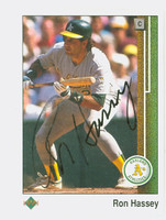 Ron Hassey AUTOGRAPH 1989 Upper Deck Athletics 