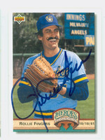 Rollie Fingers AUTOGRAPH 1993 Upper Deck Heroes Highlights Brewers 