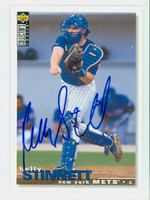 Kelly Stinnett AUTOGRAPH 1995 Upper Deck Collectors Choice Mets 