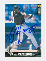Mike Cameron AUTOGRAPH 1997 Upper Deck Collectors Choice White Sox 