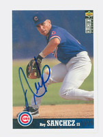 Rey Sanchez AUTOGRAPH 1997 Upper Deck Collectors Choice Cubs 