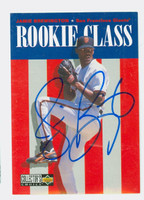 Jamie Brewington AUTOGRAPH 1996 Collectors Choice Upper Deck Rookie Class Giants 