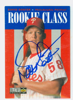 David Doster AUTOGRAPH 1996 Upper Deck Collectors Choice Rookie Class Phillies 