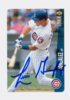 Luis Gonzalez AUTOGRAPH 1996 Upper Deck Collectors Choice Cubs 